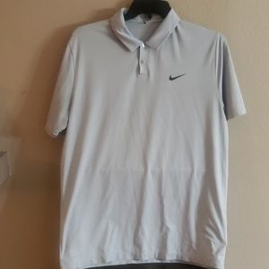 Nike Gray L Tiger Wood Collection Polo